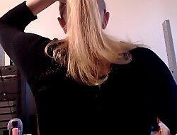 Brushing my Long Natural Blonde Hair