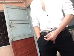 vietnam office jerk off outdoor trai quần tây sơ mi trắng sục cặc .MOV