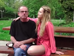 Grandpa Calls For a Young Escort and gets the best teen sex of his life