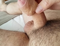 Amateur Masturbation Cumshot Uncut Foreskin Big Cock