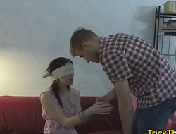 Real russian gf assfucked in simulate of her bf