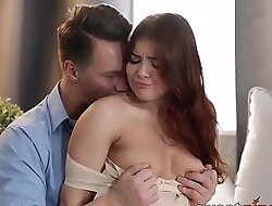 19yo redhead Renata Fox takes cum in mouth after sex