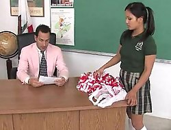 Cute oriental cheerleader screwed plus facialized by dramatize expunge teacher dean