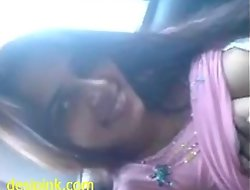 Indian sex mms of well done girlfriend oral sex in car