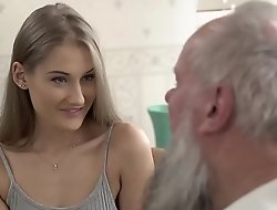Teen dreamboat vs venerable grandpa - tiffany tatum and albert