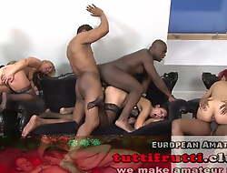 Euro MILF GANG-BANG