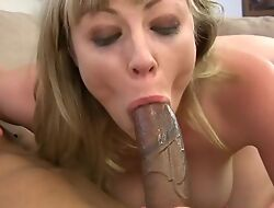Blonde damsel gets her eager holes fucked in close-up