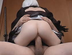 Nier Automata 2B Cosplay, Some girth, Thick Cock 4 Tiny Petite