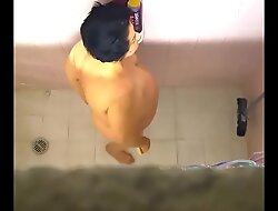 Mom spied in shower